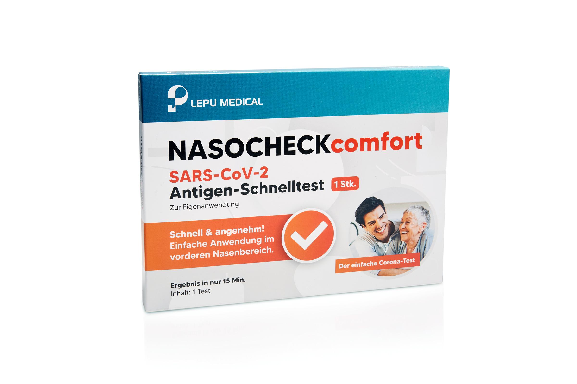 Schnelltest NASOCHECKcomfort Covid Selbsttest/Laientest